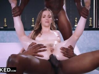BLACKED - This bored wife found what she needed with two BBCs anal cock dick
