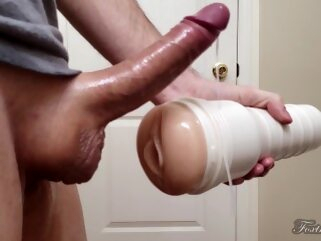 Stroking Perfect Big Cock up close with cumshot - Riley Reid pussy Foxtort Papa adult toys cock