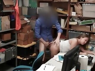 Security Guard Takes Sexual Advantage Of Teen Shoplifter reality amateur hardcore
