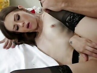 Alexa Nova gets fucked hard by her friend's brother - Naughty America anal stockings small tits