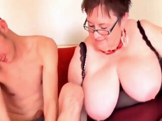 Honey - And Her Toyboy bbw gilf granny