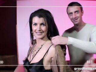 Georgina Assfucked and DPed by a Bunch of Studs anal brunette cumshot