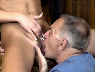 Old man fuck young girl Can you trust your gf leaving her al blowjob brunette hd