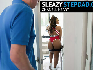 Chanell Heart Gets Seduced By Her Sleazy Step Dad - SleazyStepdad big ass ebony hairy
