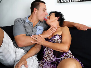 Horny Granny Having Fun With Her Toy Boy - MatureNL big ass big tits dutch