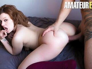 CastingFrancais - Big Ass Canadian Newbie Tries Porn For The First Time amateureuro butt cock
