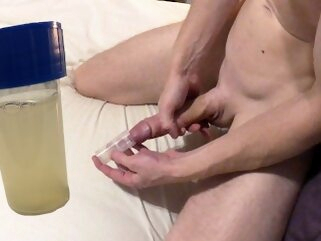 Collection cum in a cup....what to do with it next..? Johann Wood masturbate cock point