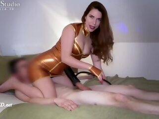 -- INTENSE -- Milking Session with Dominating Mistress brunette femdom fetish