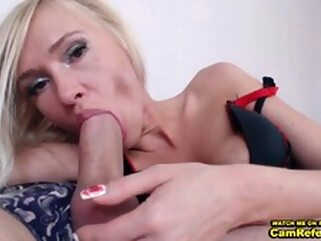 Blonde Chick Love___Is Gives Her Male Friend A Blowjob On Cam - CamReferral.com blowjob small tits couple