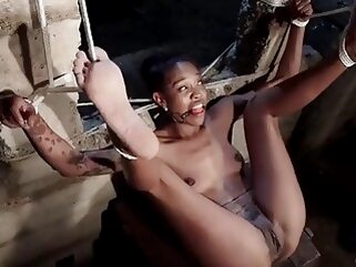Water Torment in Strict Bondage with Squirting Orgasms bdsm ebony maledom