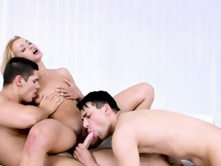 Ass rimmed and cock sucked bi guys anal bisexual blonde