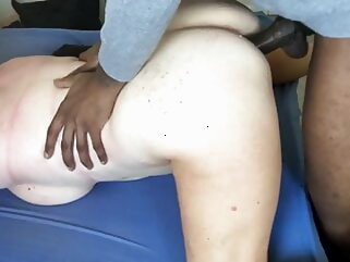 Mature wife is getting fucked by her BBC bull. Hubby films. amateur interracial milf