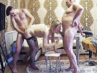 Stepfamily With Cuckold & Milf Friend In A Homemade Orgy amateur blowjob hardcore