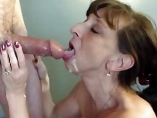 Granny whore gives blowjob mature flashing milf