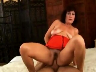 Alma - And Her Toyboy gilf granny hairy