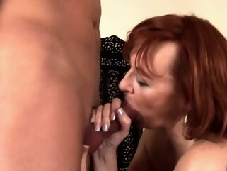Nice Mature Mega Boobs Busty Give Blowjob big boobs blowjob mature